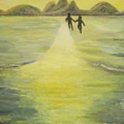 The Road In The Ocean Of Light Poster by Karina Ishkhanova