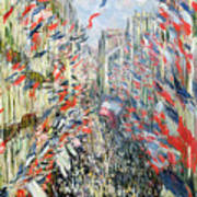The Rue Montorgueil Poster by Claude Monet