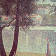 The Seine At Courbevoie Poster by Georges Pierre Seurat