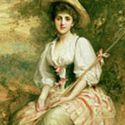 The Shepherdess Poster by Sir Samuel Luke Fildes
