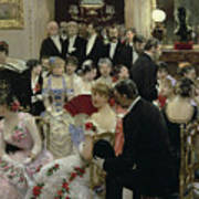 The Soiree Poster by Jean Beraud