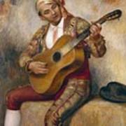 The Spanish Guitarist Poster by Pierre Auguste Renoir