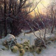 The Sun Had Closed The Winter Day Poster by Joseph Farquharson