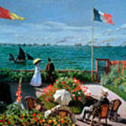 The Terrace At Sainte Adresse Poster by Claude Monet