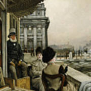The Terrace Of The Trafalgar Tavern Greenwich Poster by James Jacques Joseph Tissot