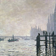 The Thames Below Westminster Poster by Claude Monet