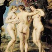 The Three Graces Poster by Peter Paul Rubens