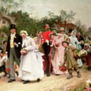 The Village Wedding Poster by Sir Samuel Luke Fildes