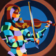 The Violinist Poster by Mark Webster