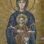 The Virgin Mary Holds The Child Christ On Her Lap Poster by Ayhan Altun