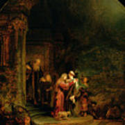 The Visitation Poster by  Rembrandt Harmensz van Rijn