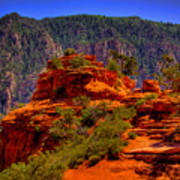 The Wedding Rock In Sedona Poster by David Patterson