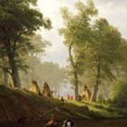 The Wolf River - Kansas Poster by Albert Bierstadt