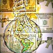 The World Is Money Poster by Paulo Zerbato