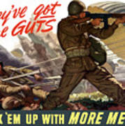 They've Got The Guts Poster by War Is Hell Store