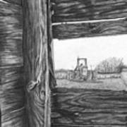 Through The Barn Poster by Dean Herbert