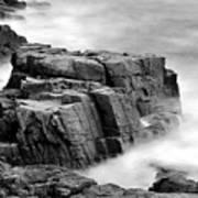 Thunder Along The Acadia Coastline - No 1 Poster by Thomas Schoeller