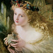 Thus Your Fairy's Made Of Most Beautiful Things Poster by Sophie Anderson