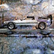 Time Machine Or The Retrofitted Delorean Dmc-12 Poster by Bob Orsillo