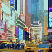 Times Square New York Poster by Russ Harris