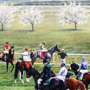 To The Gate At Keeneland Poster by Thomas Allen Pauly
