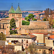 Toledo Town View Poster by Joan Carroll