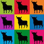 Toro Pop Art Poster by Michael Tompsett