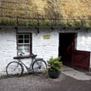 Traditional Thatch Roof Cottage Ireland Poster by Pierre Leclerc Photography