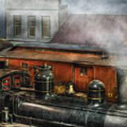 Train - Yard - The Train Yard II Poster by Mike Savad