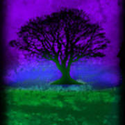 Tree Of Life - Purple Sky Poster by Robert R Splashy Art