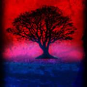 Tree Of Life - Red Sky Poster by Robert R Splashy Art