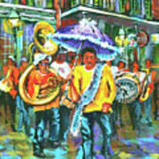 Treme Brass Band Poster by Dianne Parks