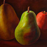 Tri Pear Poster by Shannon Grissom
