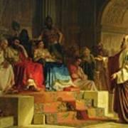 Trial Of The Apostle Paul Poster by Nikolai K Bodarevski
