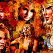 Tribute To Taylor Swift Poster by Alex Martoni