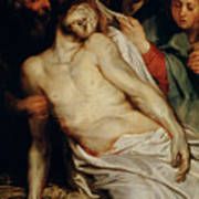 Triptych Of Christ On The Straw Poster by Rubens