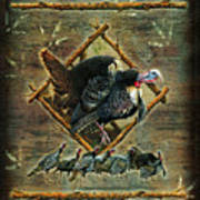 Turkey Lodge Poster by JQ Licensing