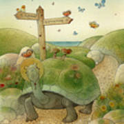 Turtle And Rabbit01 Poster by Kestutis Kasparavicius