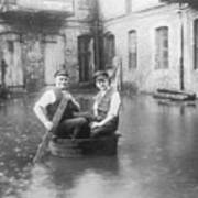 Two Men In A Tub Poster by Fpg