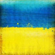 Ukraine Flag Poster by Setsiri Silapasuwanchai