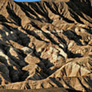 Unearthly World - Death Valley's Badlands Poster by Christine Till