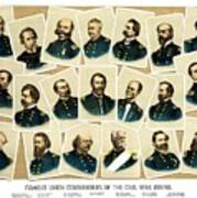 Union Commanders Of The Civil War Poster by War Is Hell Store