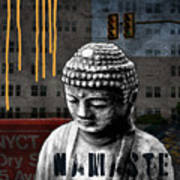 Urban Buddha  Poster by Linda Woods