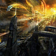 Utherworlds Battlestar Poster by Philip Straub