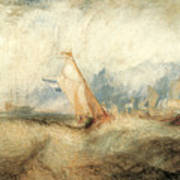Van Tromp Going About To Please His Masters Poster by J M W Turner
