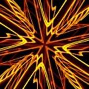 Vectoring The Neon Poster by David Dunham