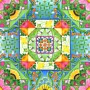 Vegetable Patchwork Poster by Isobel  Brook Haslam
