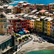 Venazza Cinque Terre Italy Poster by Xavier Cardell