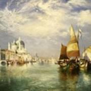 Venetian Grand Canal Poster by Thomas Moran