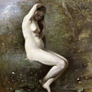 Venus Bathing Poster by Jean Baptiste Camille Corot